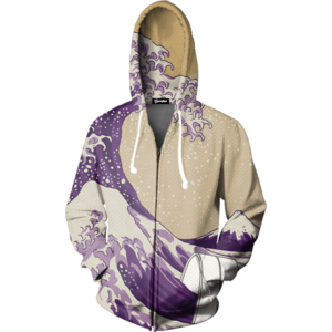 lean cup wave zip up hoodie