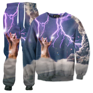lightning cat tracksuit