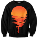 melting sunset crewneck
