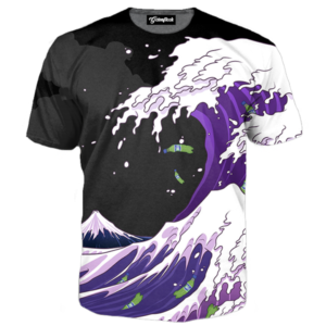 purple drank wave tee