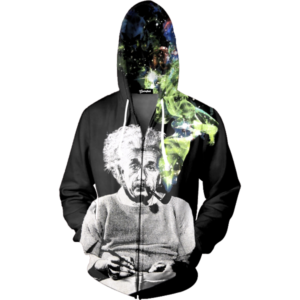 smoking einstein zip up