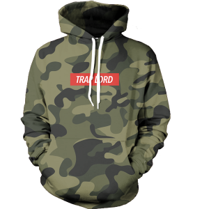 trap lord camo hoodie