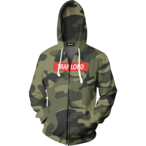 trap lord camo zip up