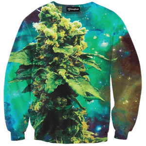 weed of galaxy crewneck