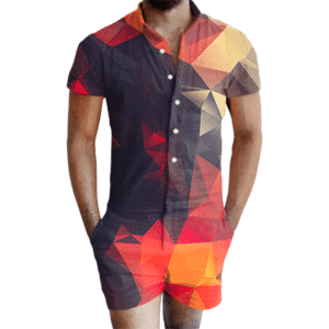 Abstract Glow Romper