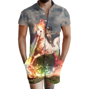 Cat From Hell Romper