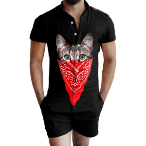 Gangsta Cat Romper