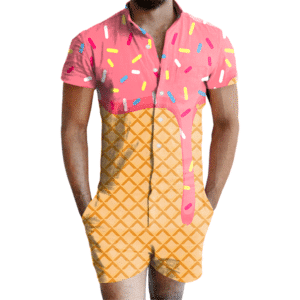 Ice Cream Dripping Romper