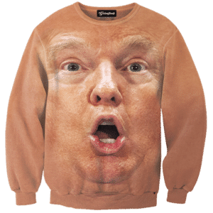 Donald Trump Shocked Face Crewneck