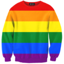 Gay Pride Rainbow Crewneck