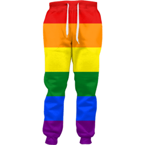 Gay Pride Rainbow Joggers