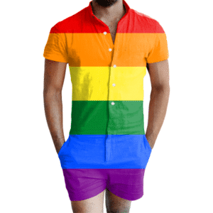 Gay Pride Rainbow Romper