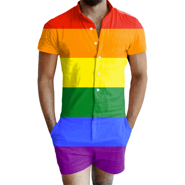 6b7057f53d2 Gay Pride Rainbow Romper - All Over Print Apparel - Getonfleek