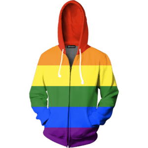 Gay Pride Rainbow Zip Up Hoodie