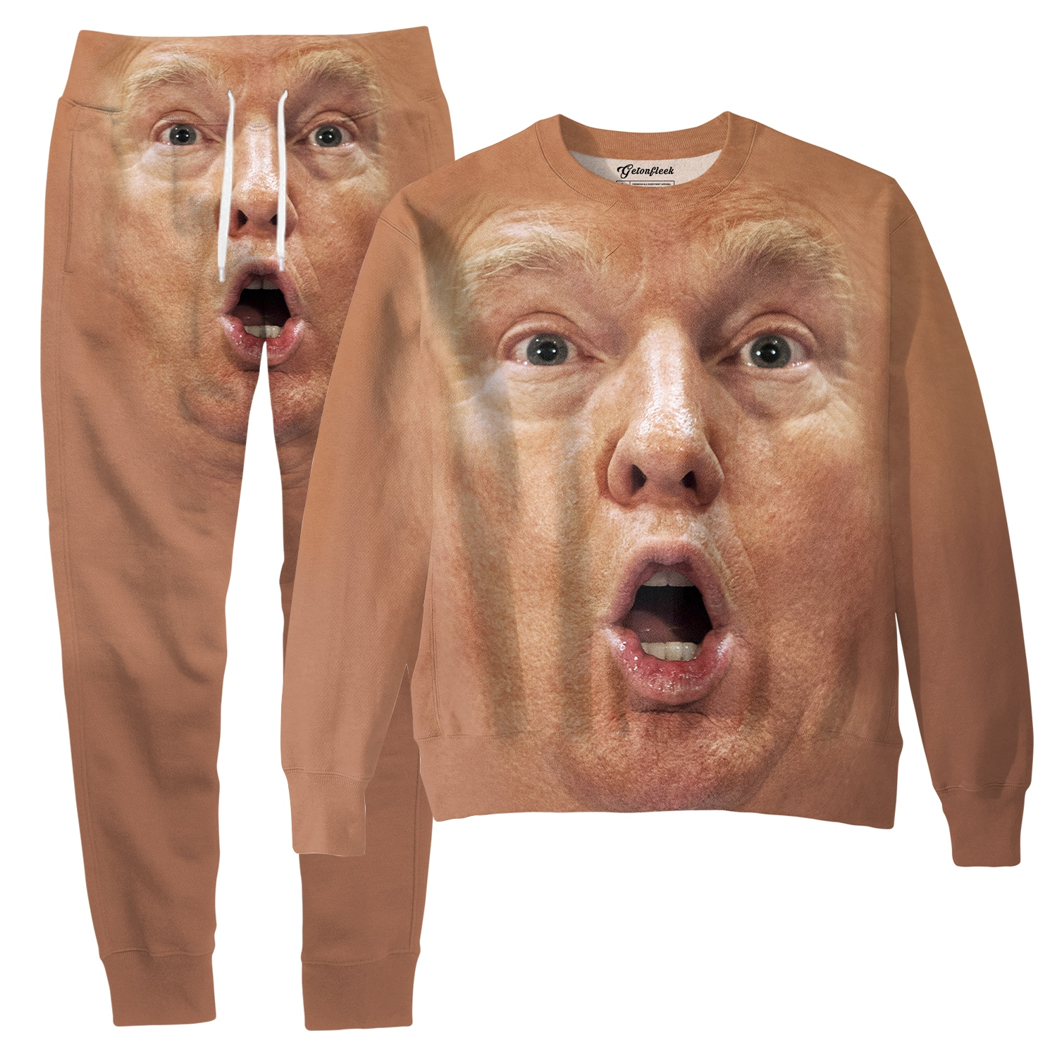 10c92028a Donald Trump Shocked Face Tracksuit - All Over Print Apparel ...