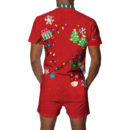 Classic Ugly Christmas Romper Back