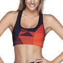 Abstract Glow Sports Bra – Front