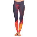 Abstract Glow Yoga Pants – Front
