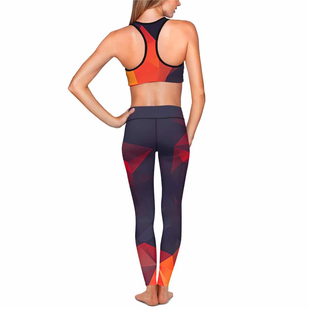 Abstract Glow Yoga Set - All Over Print Apparel - Getonfleek