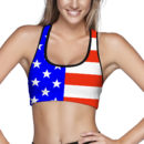 American Flag Sports Bra – Front