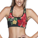 Athletic Floral Sports Bra – Front