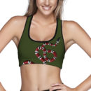 Coral Snake OD Green Sports Bra – Front