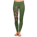Coral Snake OD Green Yoga Pants – Front