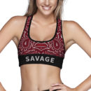 Too Savage Sports Bra – Front