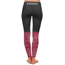 Too Savage Yoga Pants – Back