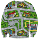 Classic Toy Car City Map