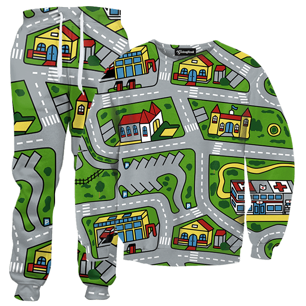 Toy Car City Map Tracksuit