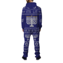Its Lit Ugly Hanukkah Onesie BACK